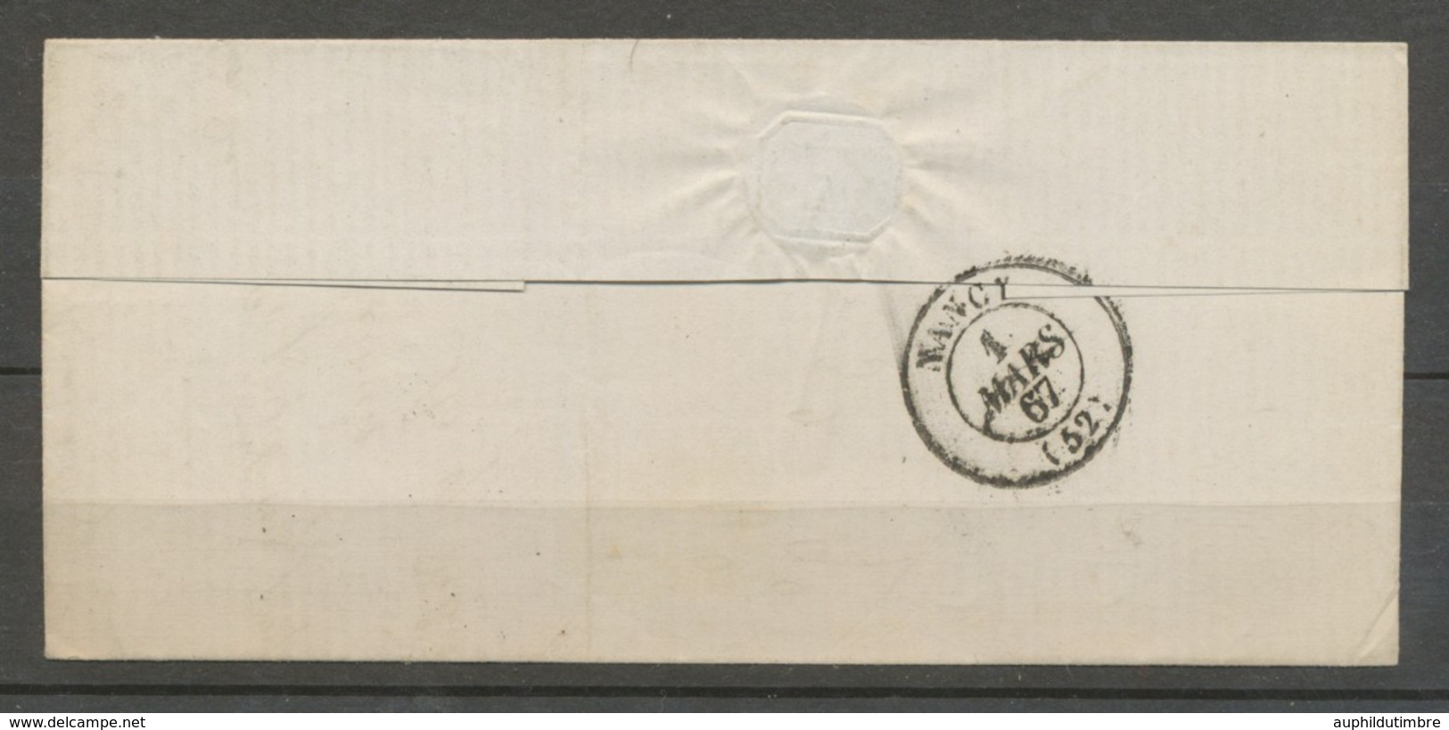 1867 Lettre N°22 Obl CAD T15 GC358 BADONVILLER MEURTHE(52) TB. X1629 - 1849-1876: Période Classique