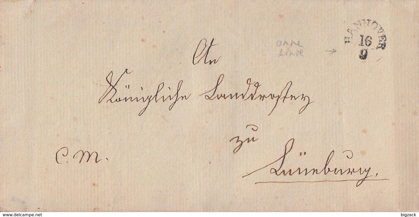 Hannover Brief 16.9. Gel. Nach Lüneburg Stempel Ansehen !!!!!!!!!!!!!!!!! - Hannover