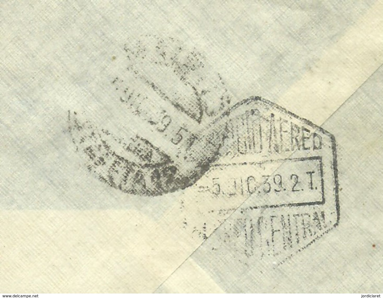 CARTA CENSURA  1939   LAS PALMAS SCANER - Marcas De Censura Nacional