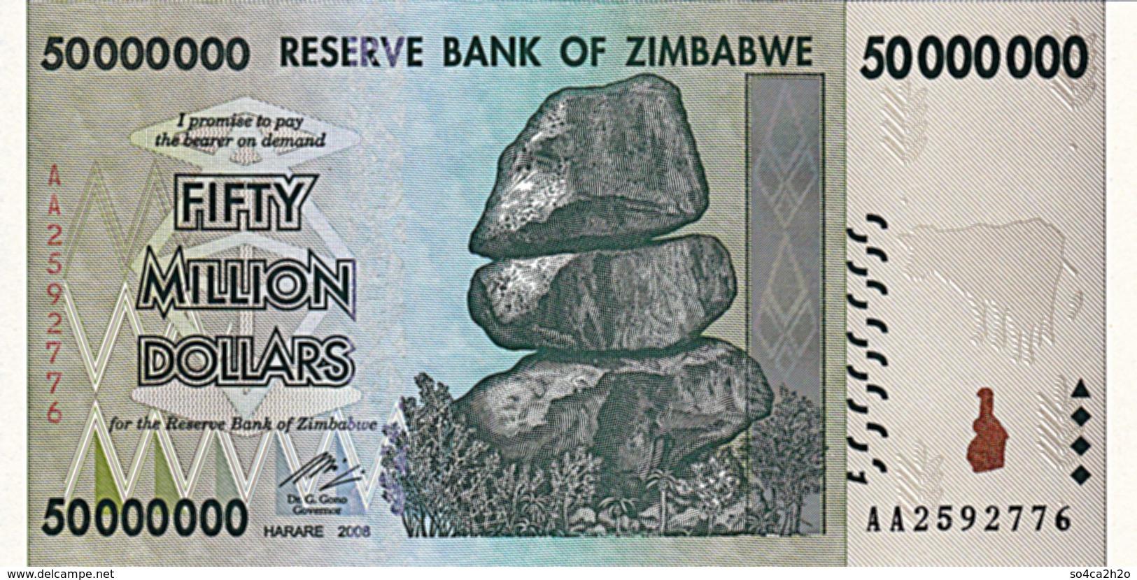 Zimbabwé P 79 50 000 000 Dollars 2008 Série  AA UNC - Zimbabwe