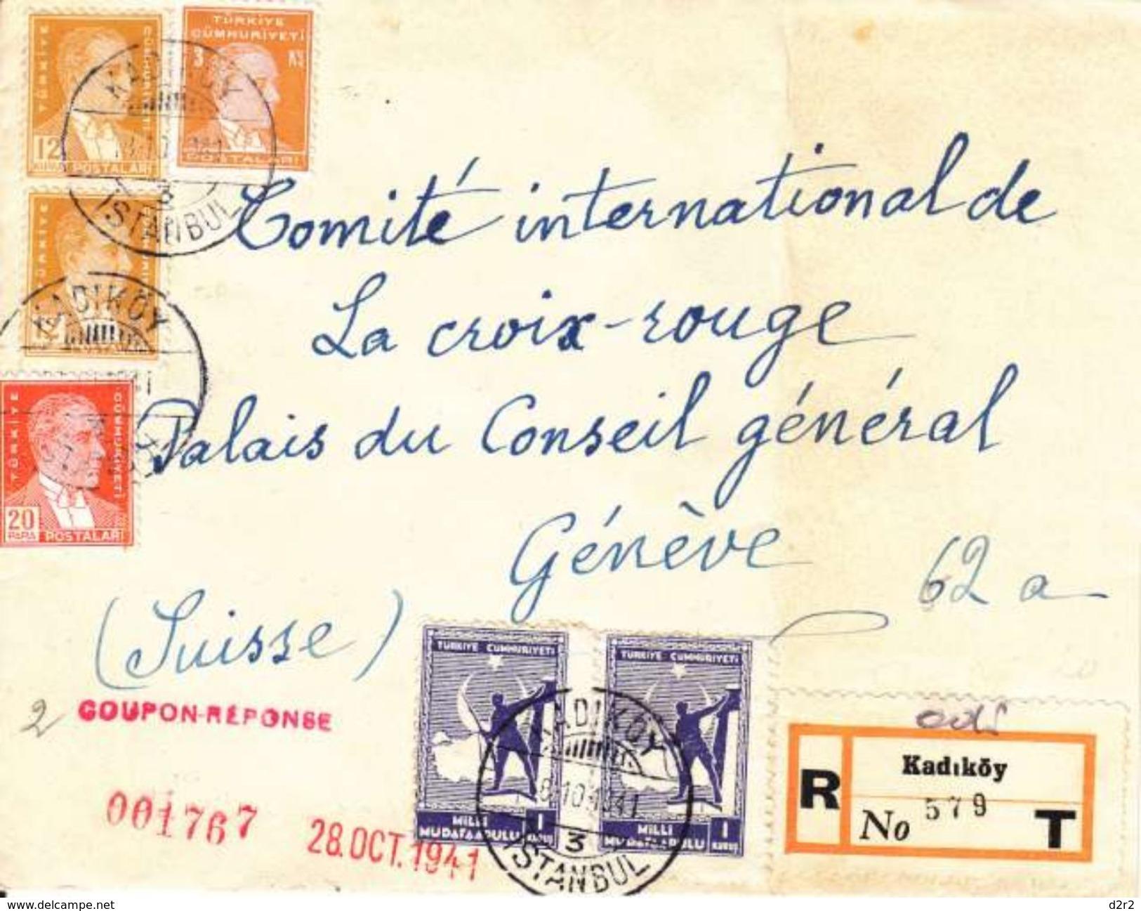 LETTRE POUR LE COMITE DE LA CROIX ROUGE - GENEVE - 1941 - 1921-... République