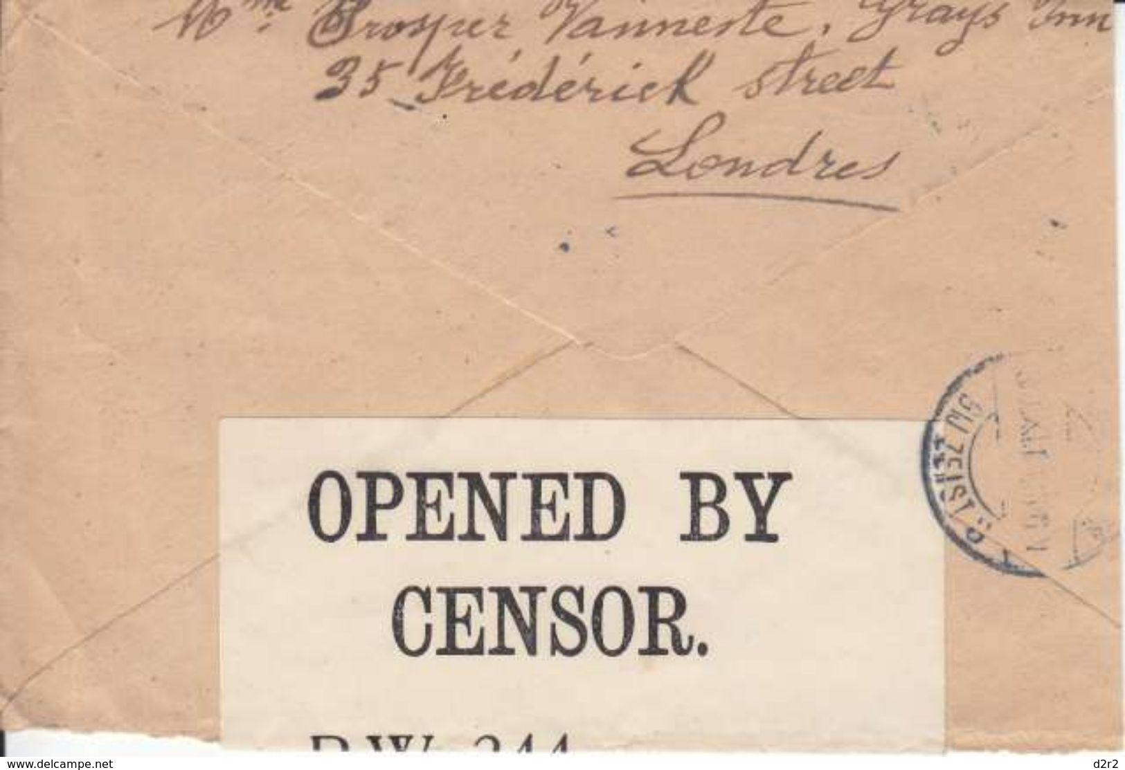 LETTRE POUR LE CAMP DE ZIESK EN HOLLANDE - CENSUREE - CACHET DE LONDRES - V/IMAGE - 1916 - 1902-1951 (Rois)
