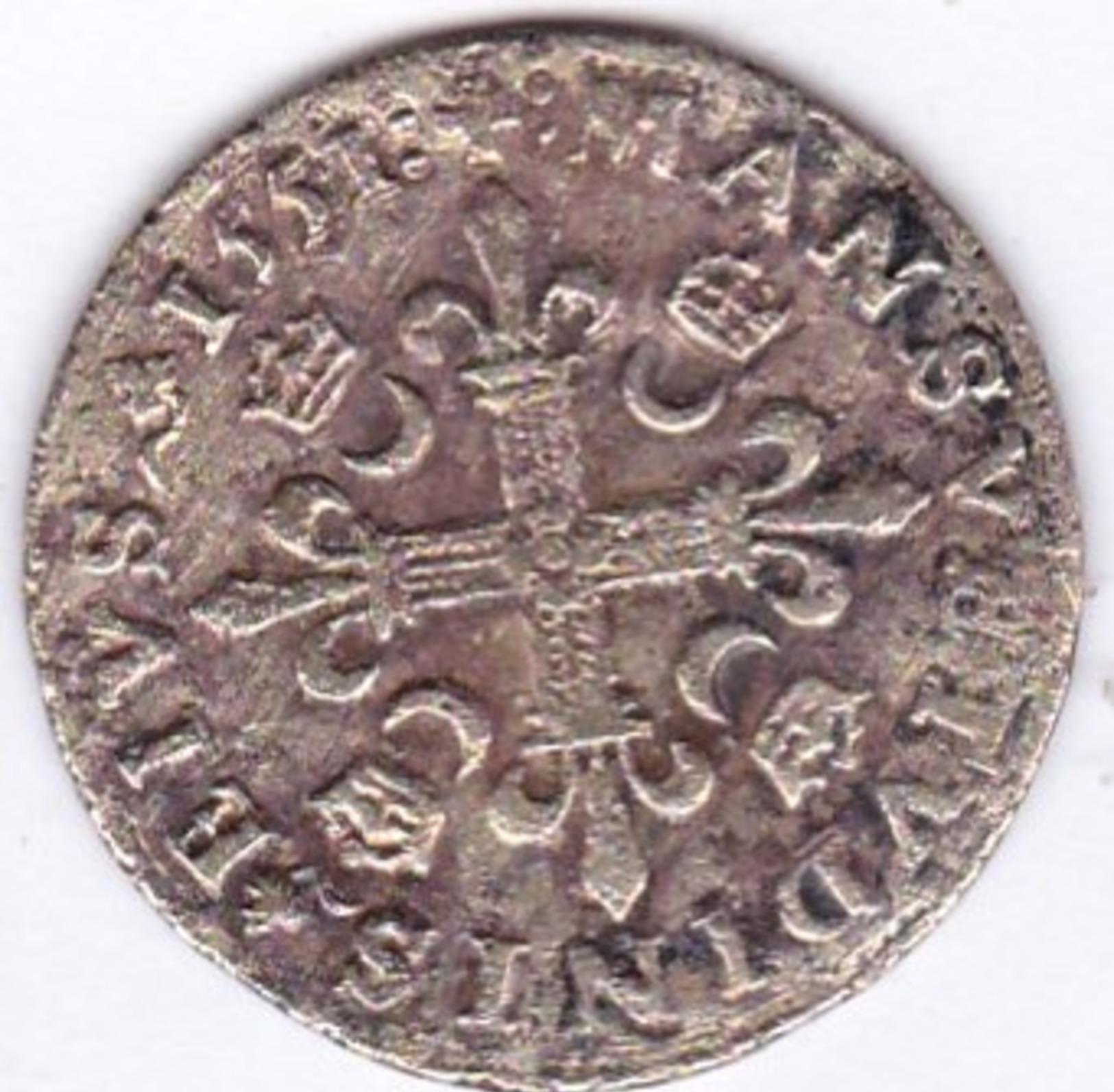 JETON  DOUZAIN  HENRI  II  155?  .   (  2  SCANS  R°V°)  ) . - 987-1789 Royal