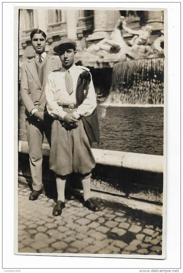 FOTO SIGNORI FONTANA DI TREVI ROMA  DEL 1929 -  NV FP - Photographs