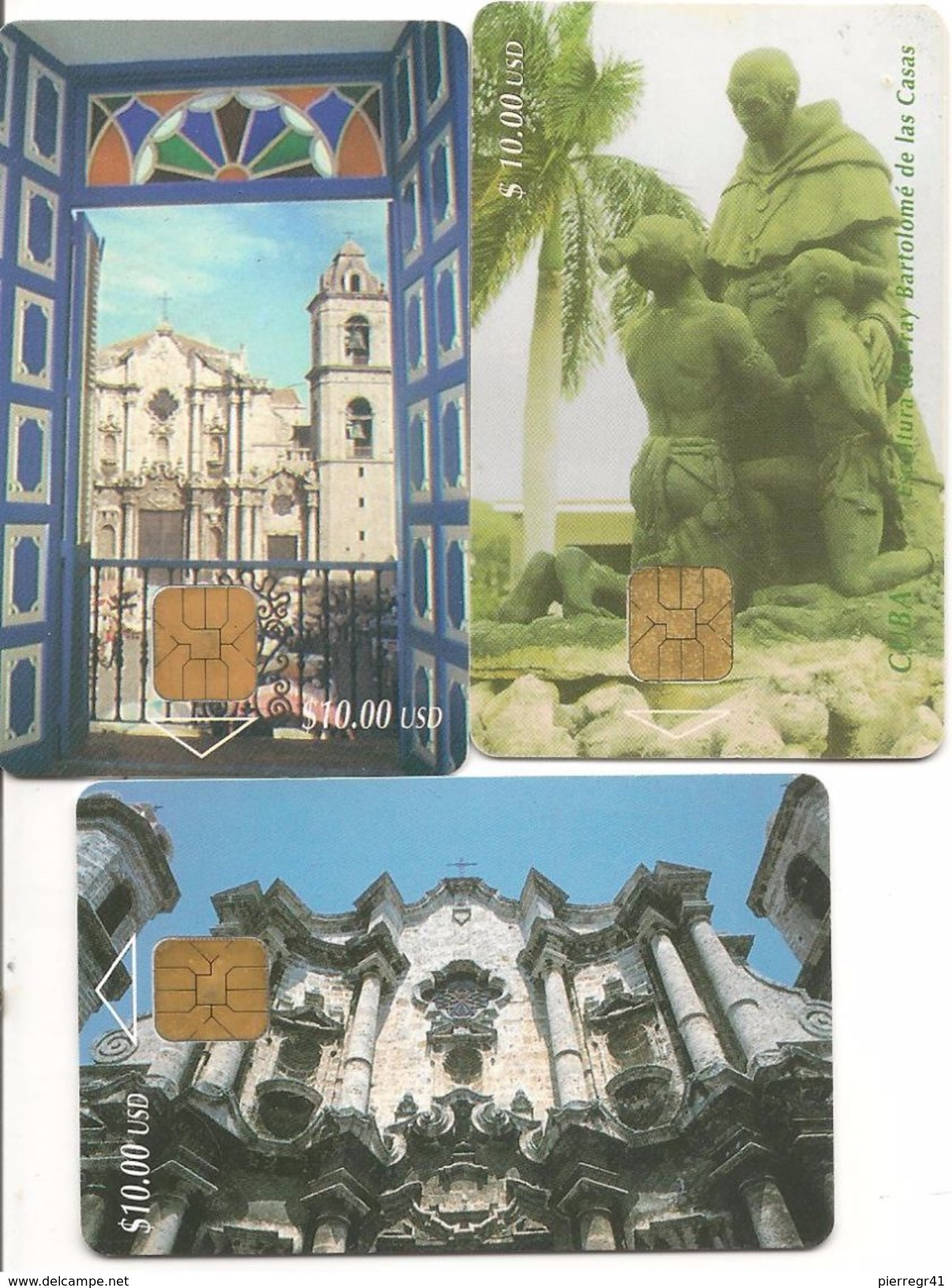3-CARTES PUCE-CUBA-THEMES MONUMENTS-TBE - Cuba