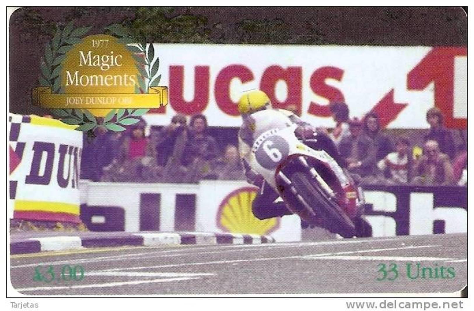 MAN-173 TARJETA DE LA ISLA DE MAN DE MAGIC MOMENTS (MOTOR RACING) MOTO - Isla De Man