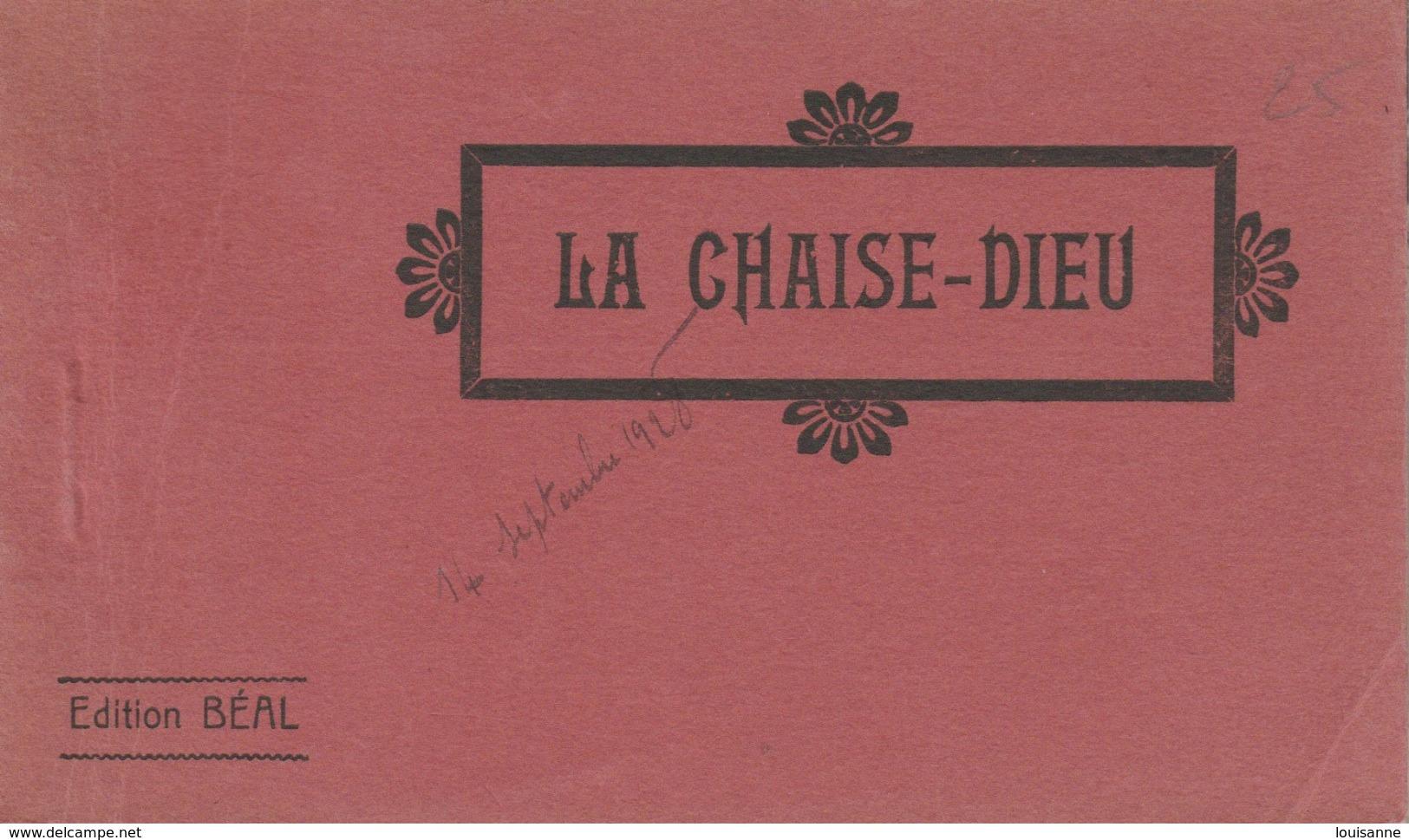 "X 17 / 8 / 341  -     CARNET  CPA  ""LA  CHAISE - DIEU  "" - Cartoline"