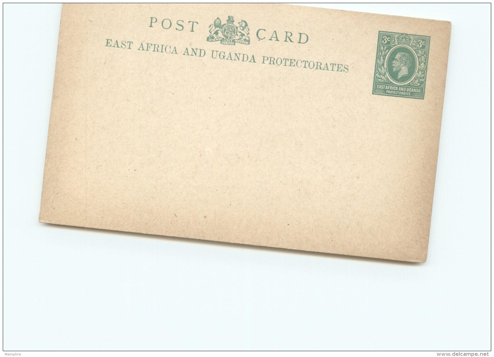 East  Africa And Uganda Protectorate   Edward VII  3c Post Card   - Unused - Protectorados De África Oriental Y Uganda
