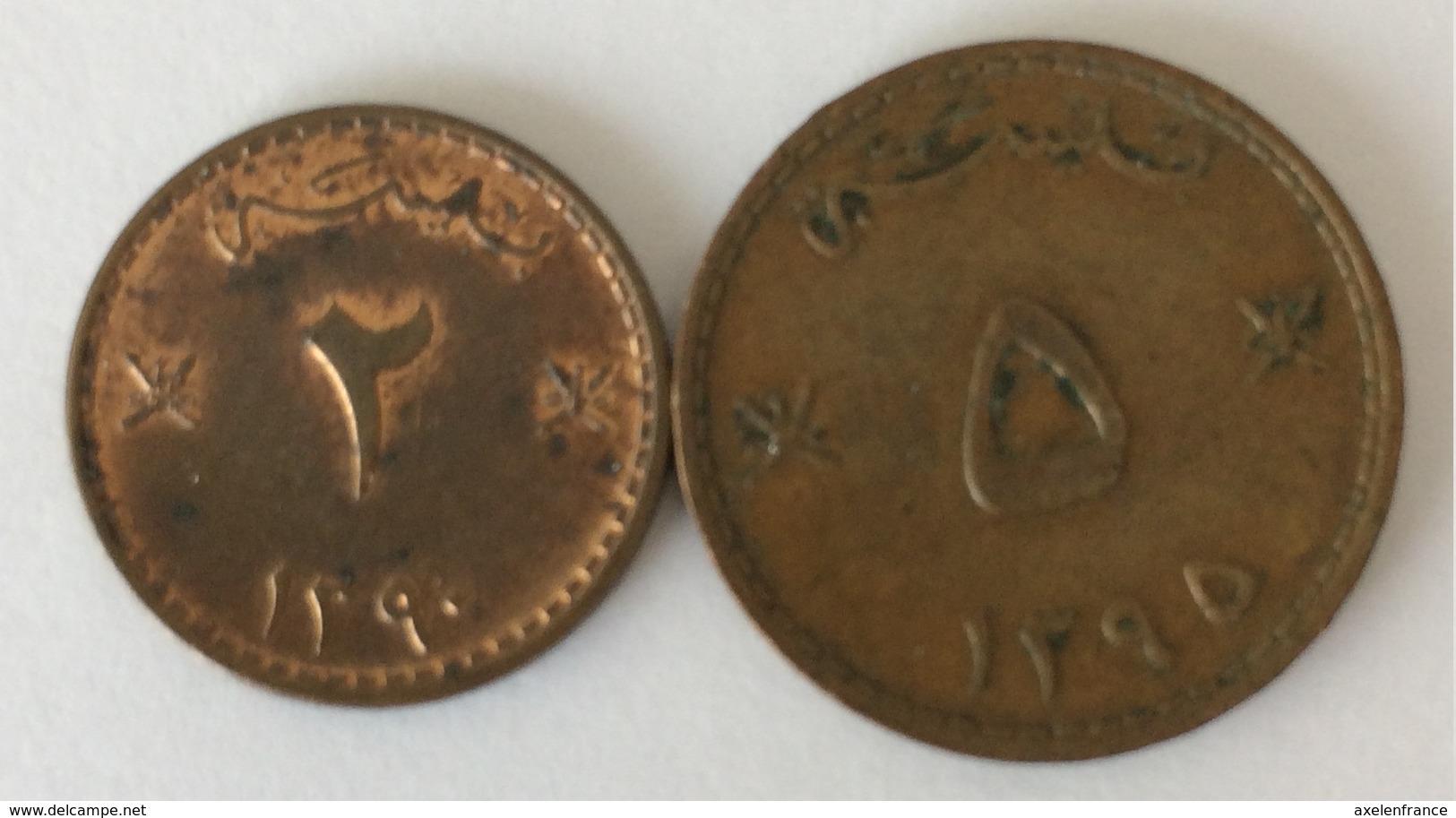 Mascate Et Oman 2 Baisa Et 5 Baisa 1970 - Oman