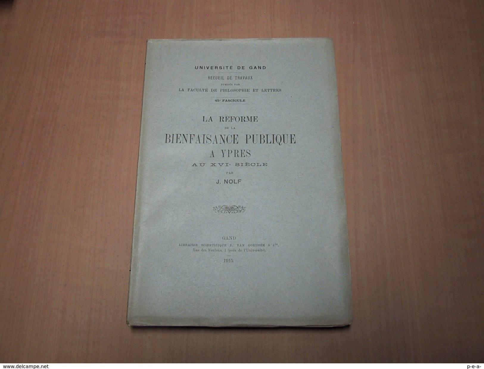 Ieper - Ypres / La Réforme De La Bienfaisance Publique à Ypres - Libros, Revistas, Cómics