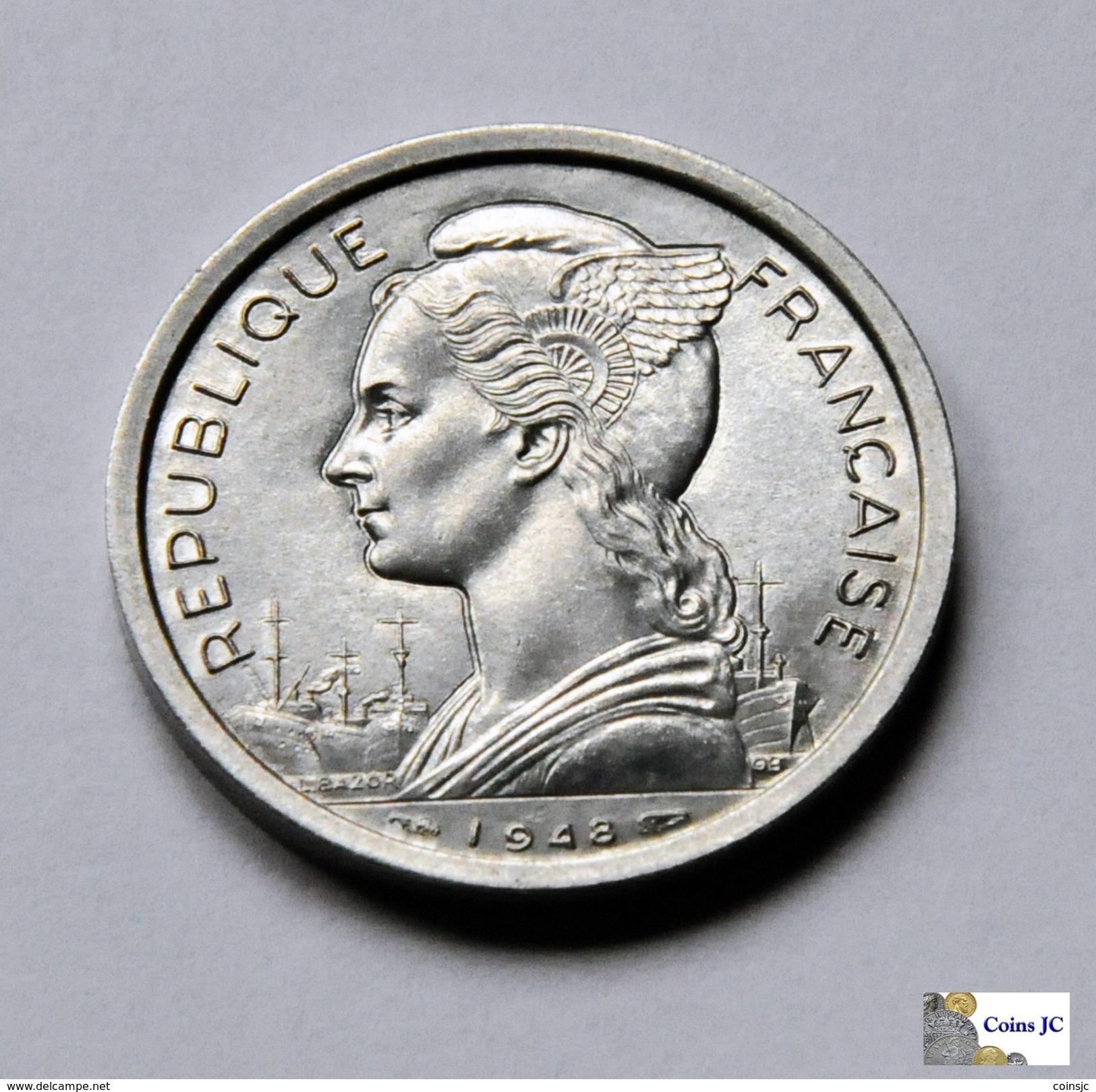 Reunion - 2 Francs - 1948 - Réunion