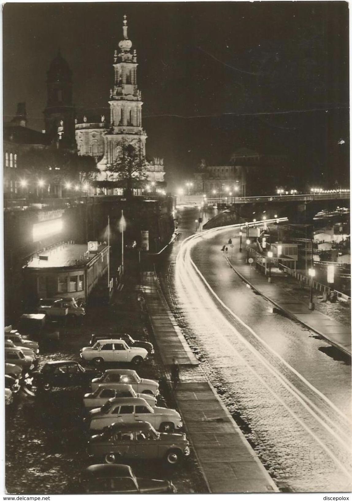Z4250 Dresden - Bruhlsche Terrasse - Auto Cars Voitures - Nacht Night Nuit Notte Noche / Viaggiata 1971 - Dresden