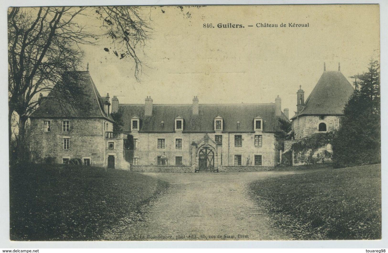Carte Postale. Guilers. Château De Kéroual. - Other Municipalities
