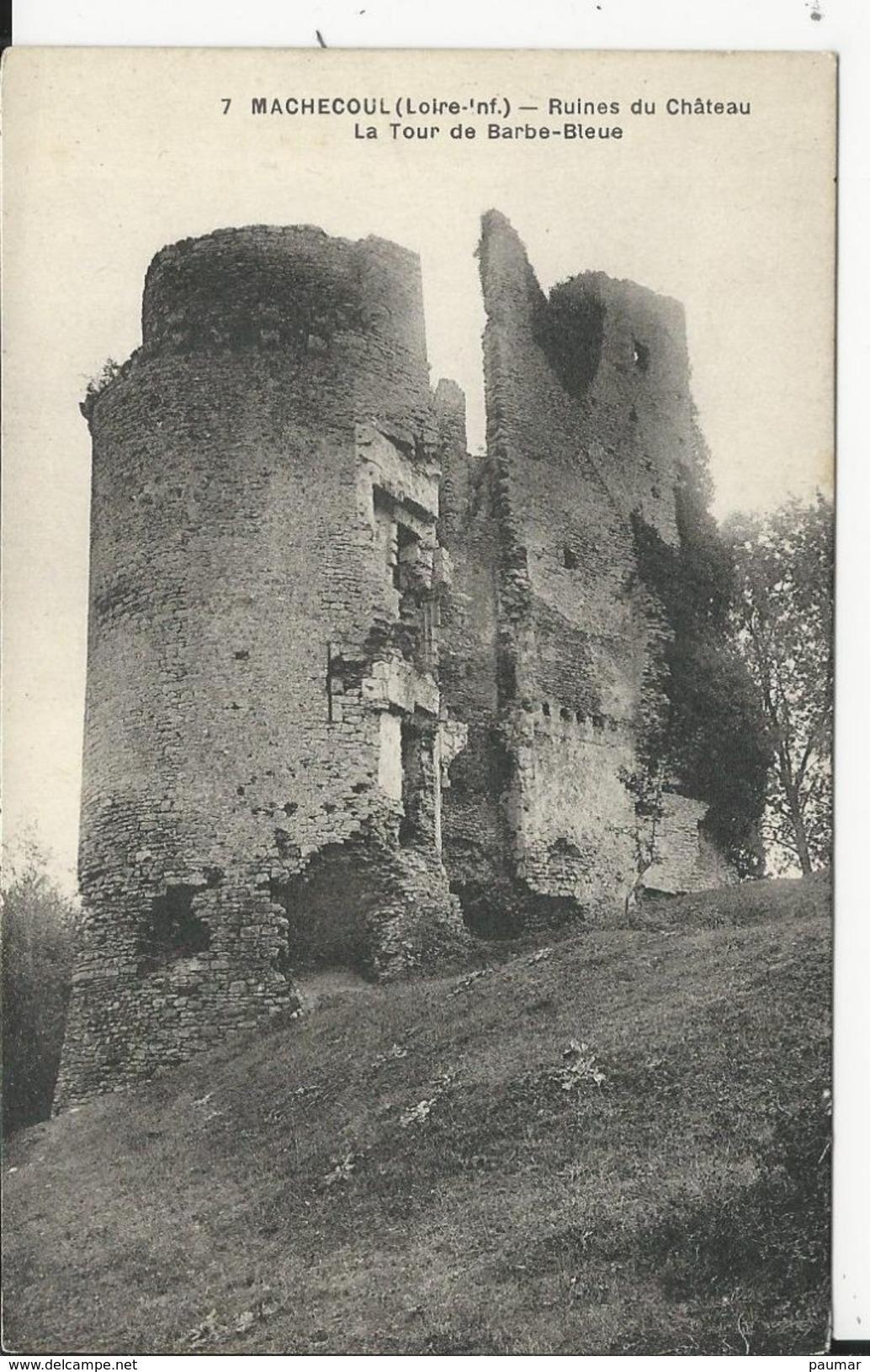 Ruine Du Chateau De Marchecoul    La Tour De Barbe Bleue - Oudon