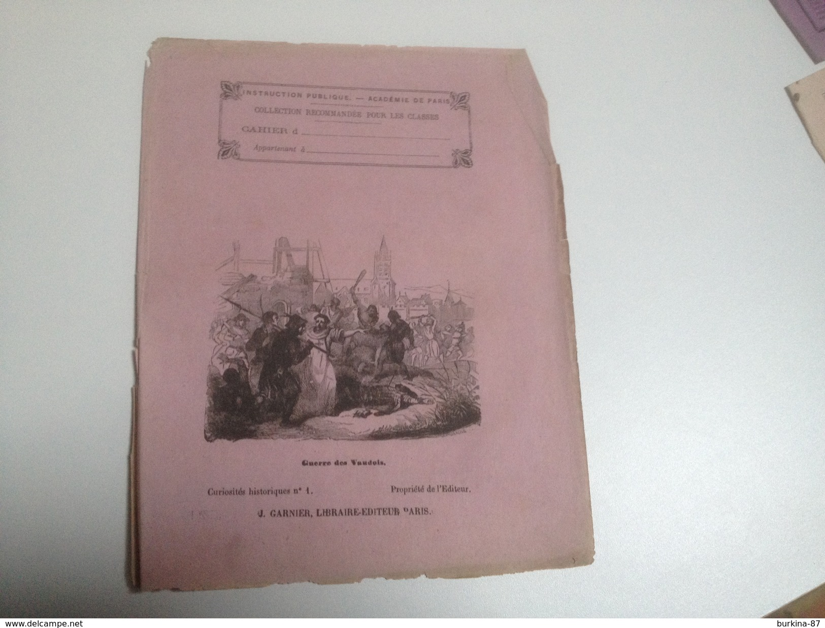 LOT De 5 Couvertures De Cahiers Anciens, Vers 1900 Et Avant - Papel Secante