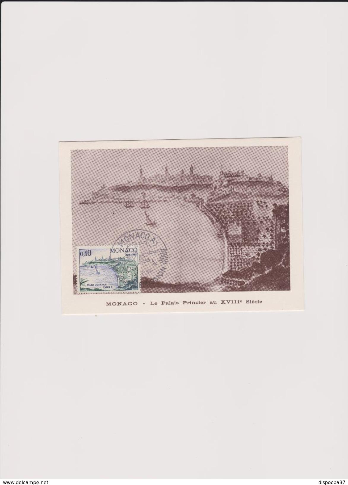 CARTE MAXIMUM 1er JOUR  01/02/1966- MONACO -  LE PALAIS PRINCIER AU XVIII° SIECLE - Y&T   N° 677 - Maximum Cards