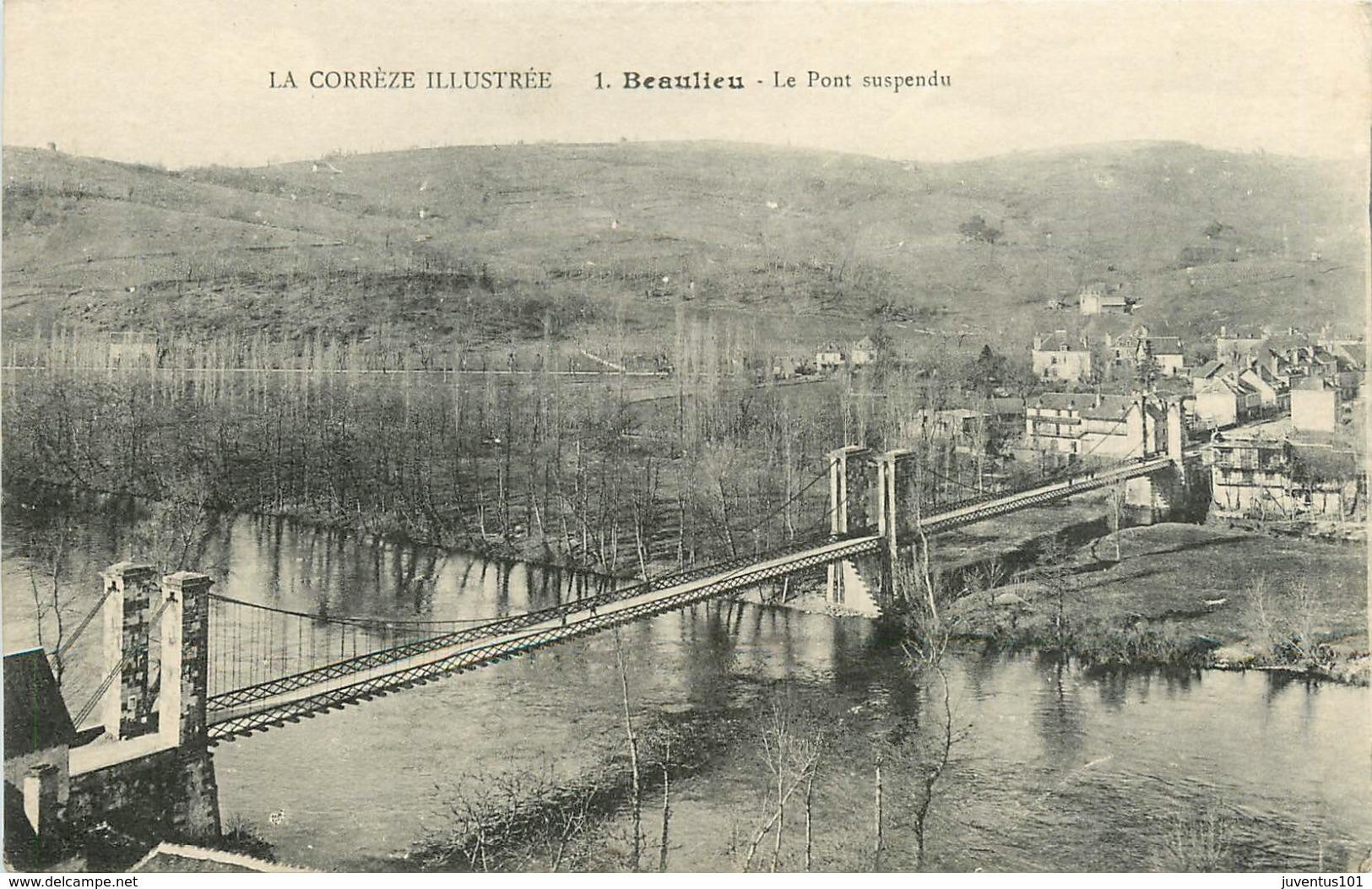 CPA Beaulieu-Le Pont Suspendu      L2342 - Otros Municipios
