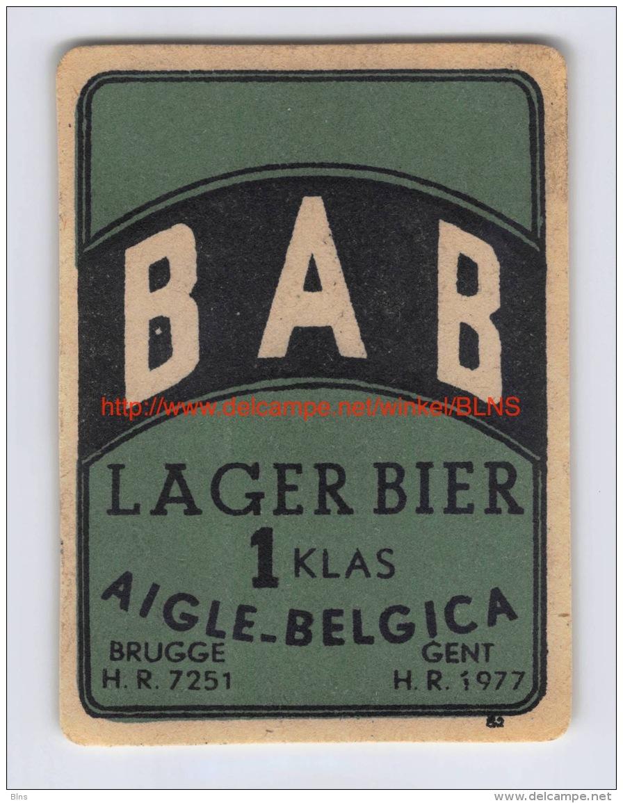 Brouwerij Aigle-Belgica - Lager Bier - BAB - Bière