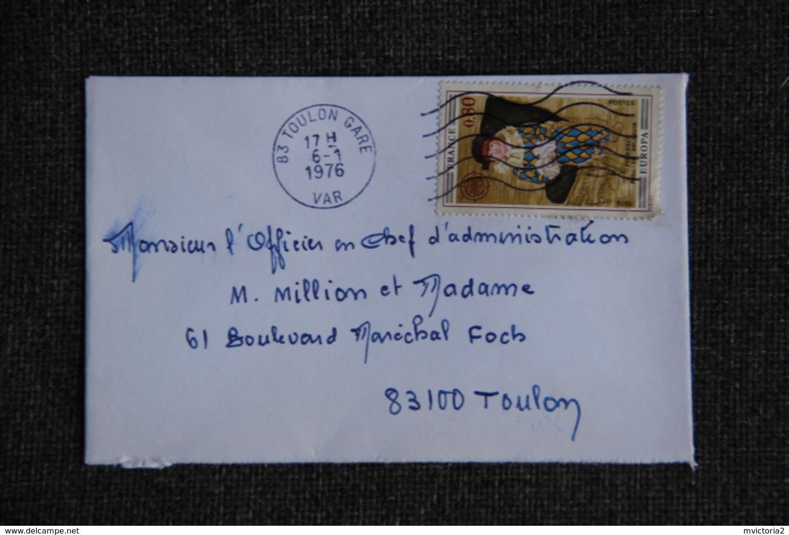 Enveloppe Timbrée Envoyée De CESSENON à Destination De TOULON ( YT / 1834 ) - Marcophilie (Lettres)