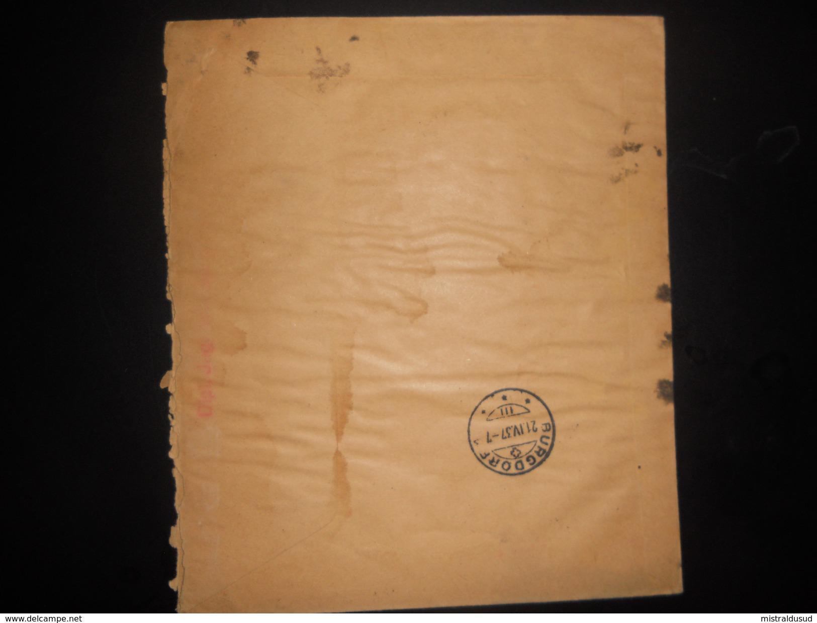 Allemagne Bloc Lettre Recommande De Koln 1937 Pour Burgdorf - Deutschland