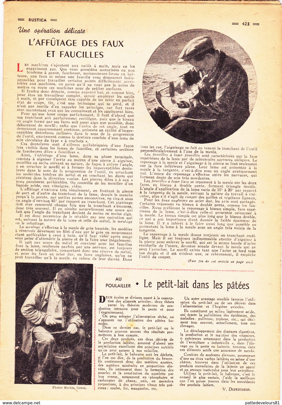 RUSTICA L' Affutage Des Faux Et Faucilles Principales Maladies Des Cidres Pressoir Pommes (4 Scans) - Nature