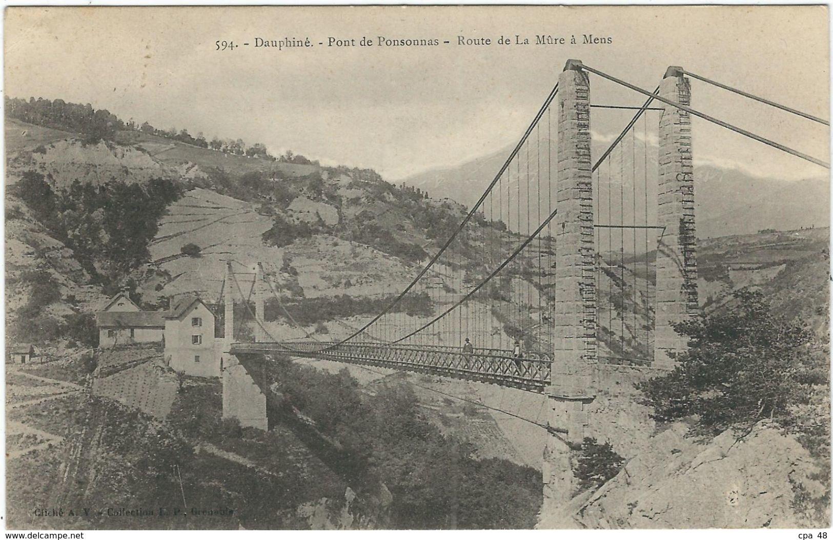 Isere : La Mure, Le Pont De Ponsonnas - La Mure
