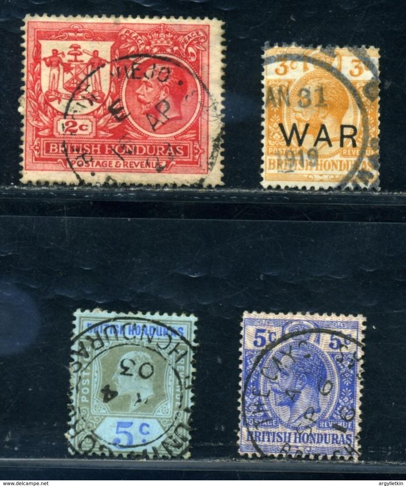 BRITISH HONDURAS AMAZING KG7 AND KG5 POSTMARK! - British Honduras (...-1970)