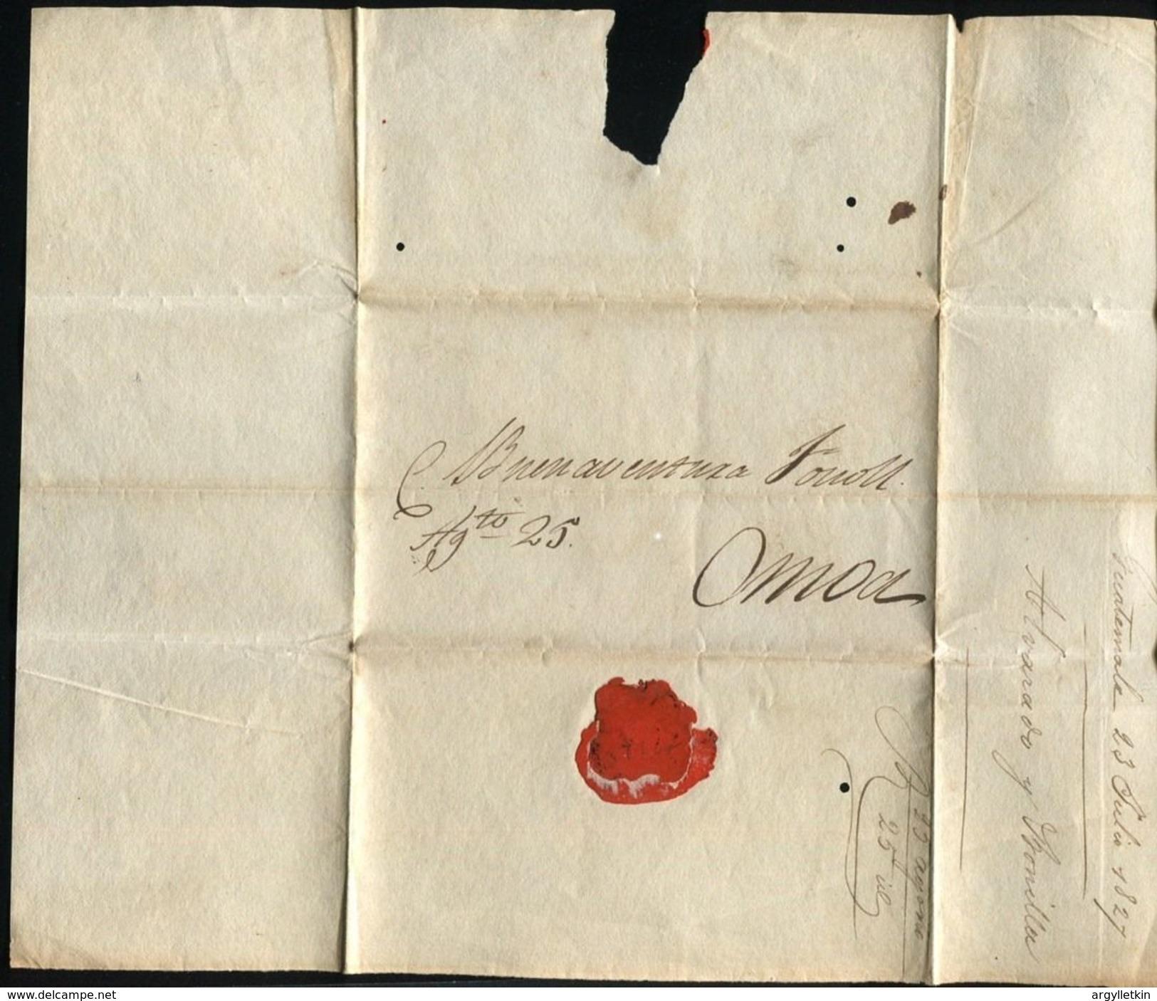 GUATEMALA WRAPPER 1827 OMOA - Guatemala