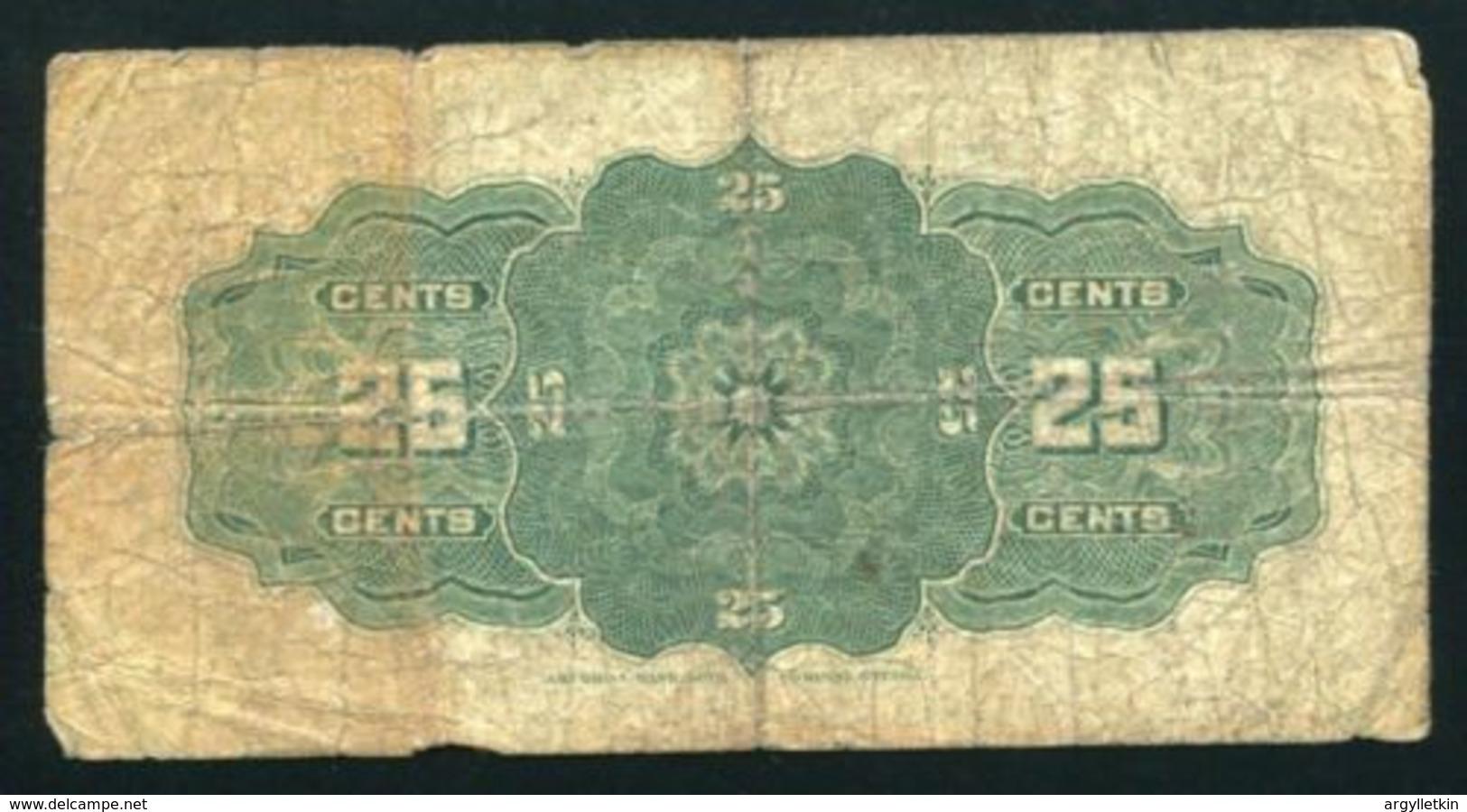 CANADA 1900 25c BANKNOTE - Canada