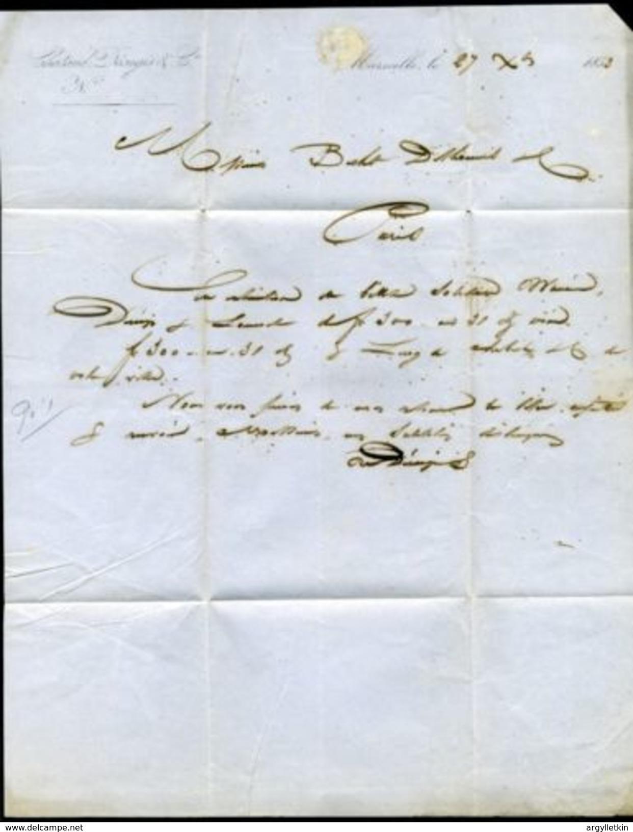FRANCE PARIS 'RETARD DU CONVI' POSTMARK 1857 - Europe (Other)