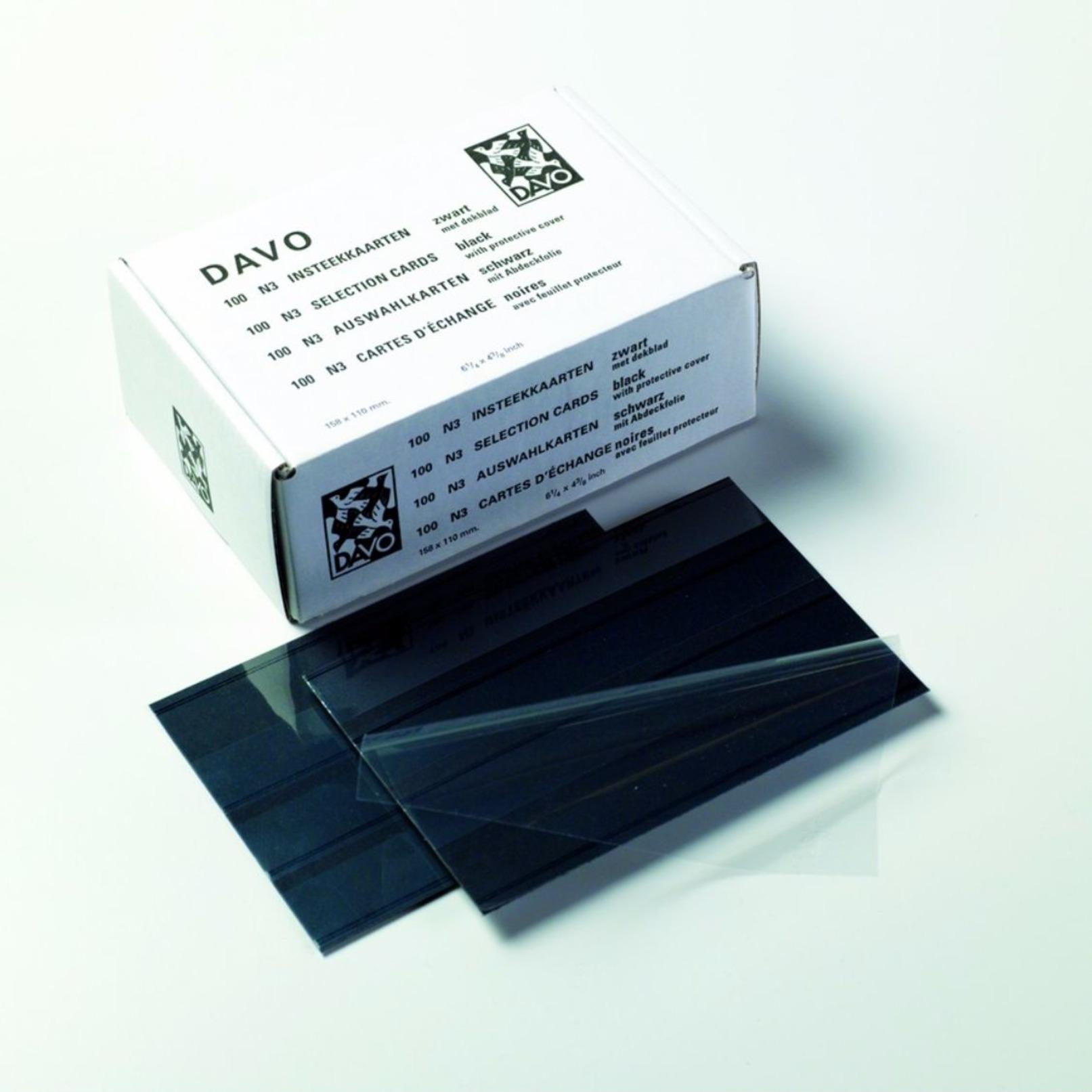 DAVO INSTEEKKAARTJES N3 (158x110mm) 3 Stroken (per 100 Stuks) - Klasseerkaarten