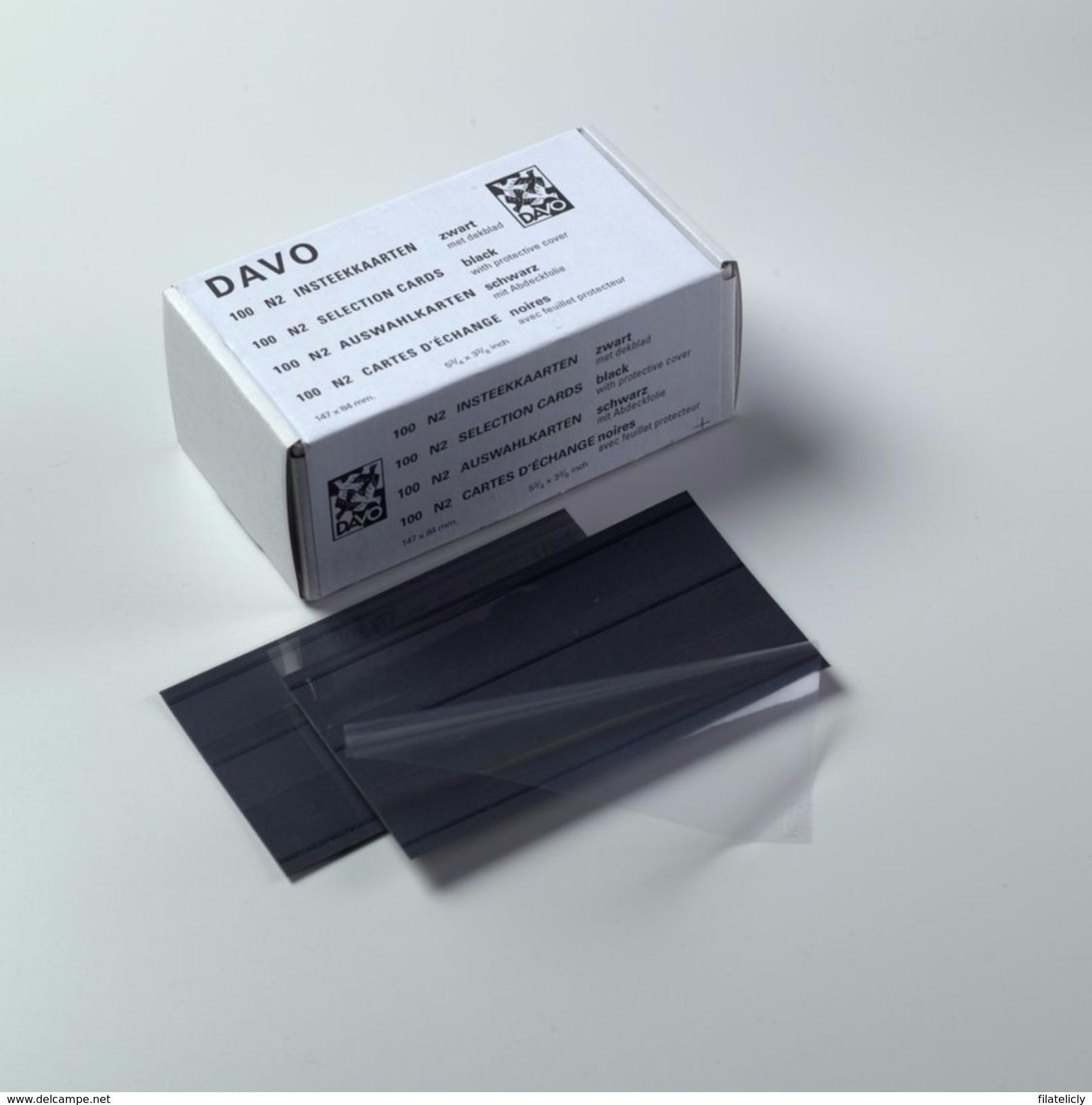 DAVO INSTEEKKAARTJES N2 (147x84mm) 2 Stroken (per 100) - Klasseerkaarten