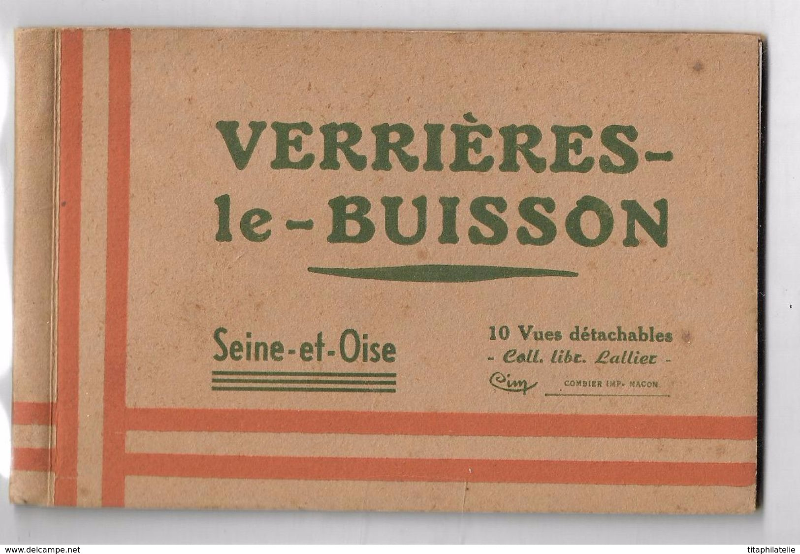 Verrières Le Buisson Seine Et Oise Puis Essonne Carnet 10 CPA Couleur Coll Libr Lallier 10 Vues Détachables - Verrieres Le Buisson