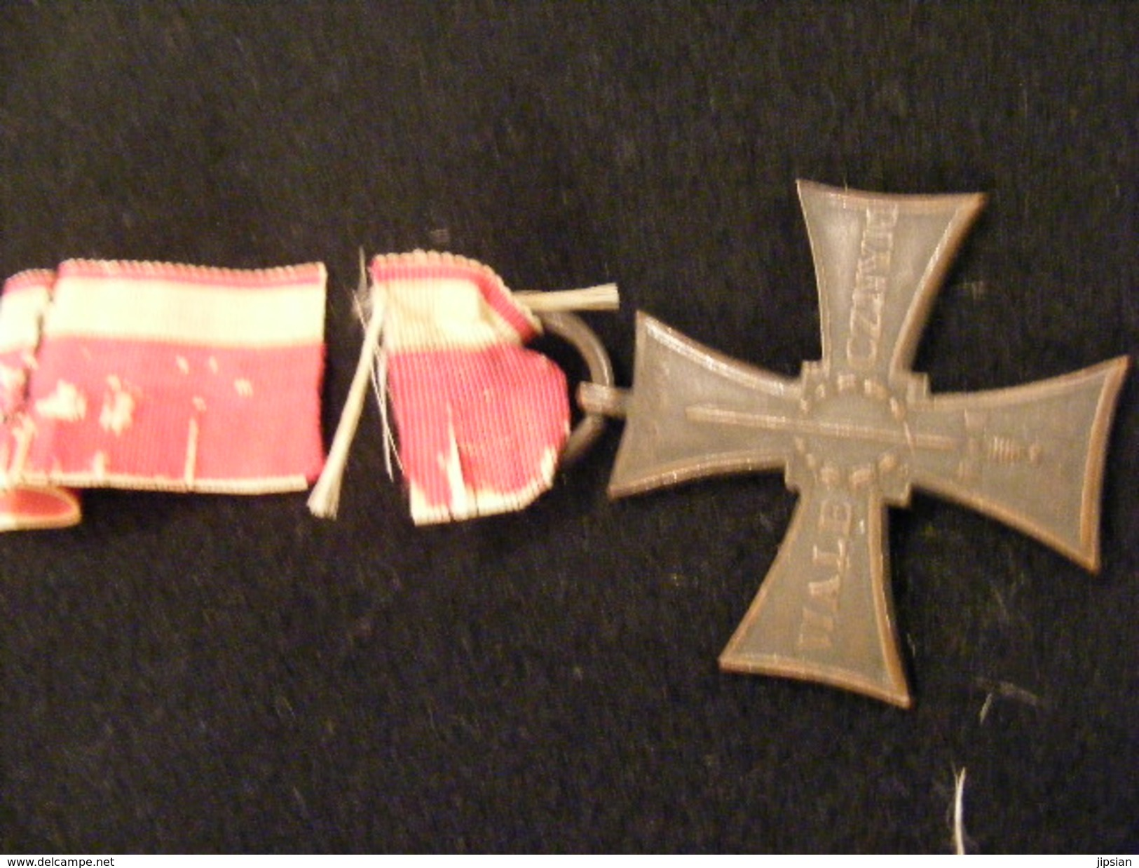 Ancienne Médaille NA 1920 Polu Chwaly - Wale Cznym N° 16279 Ordre Polonais Armée  Ins6 - Médailles & Décorations