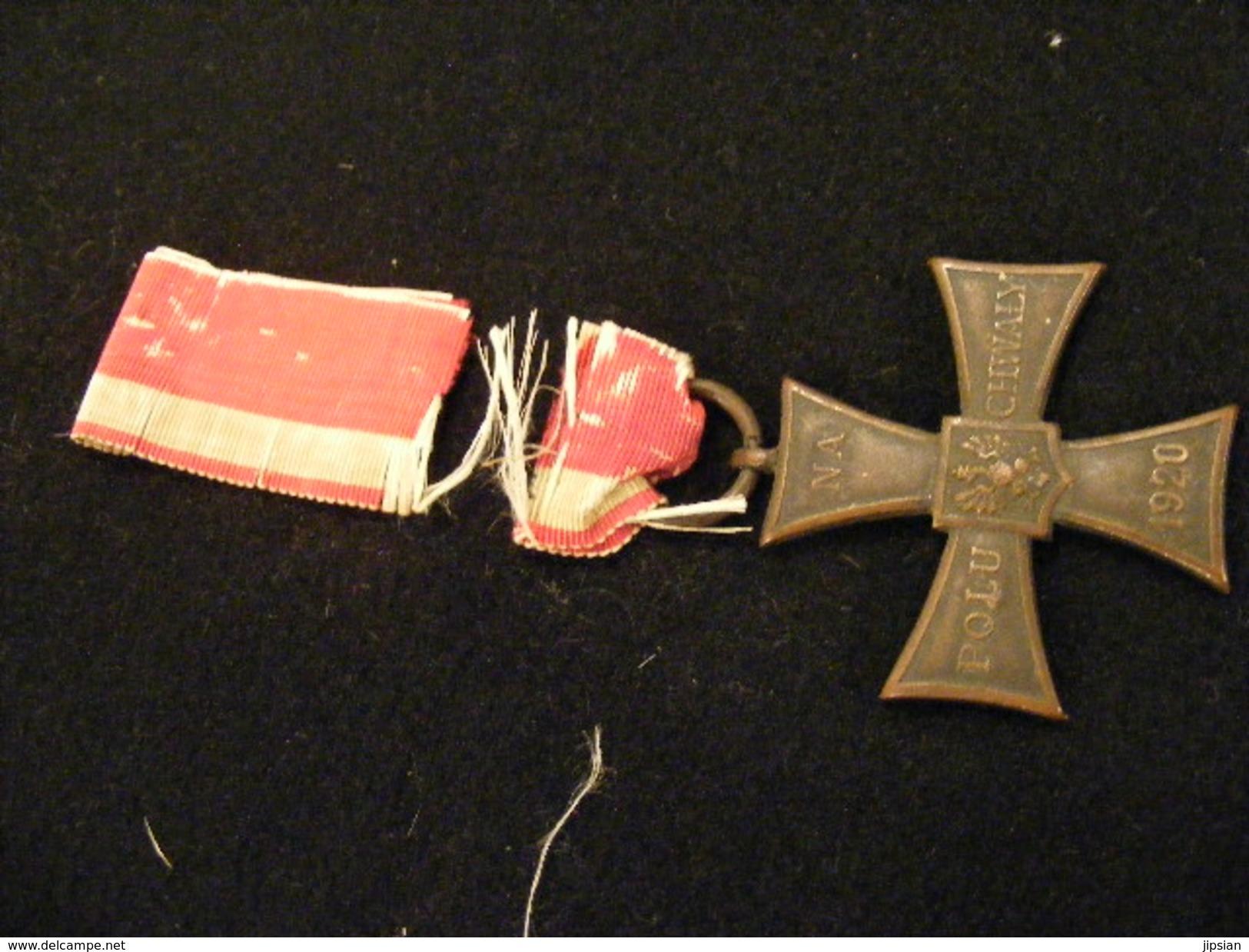 Ancienne Médaille NA 1920 Polu Chwaly - Wale Cznym N° 16279 Ordre Polonais Armée  Ins6 - Sonstige Länder