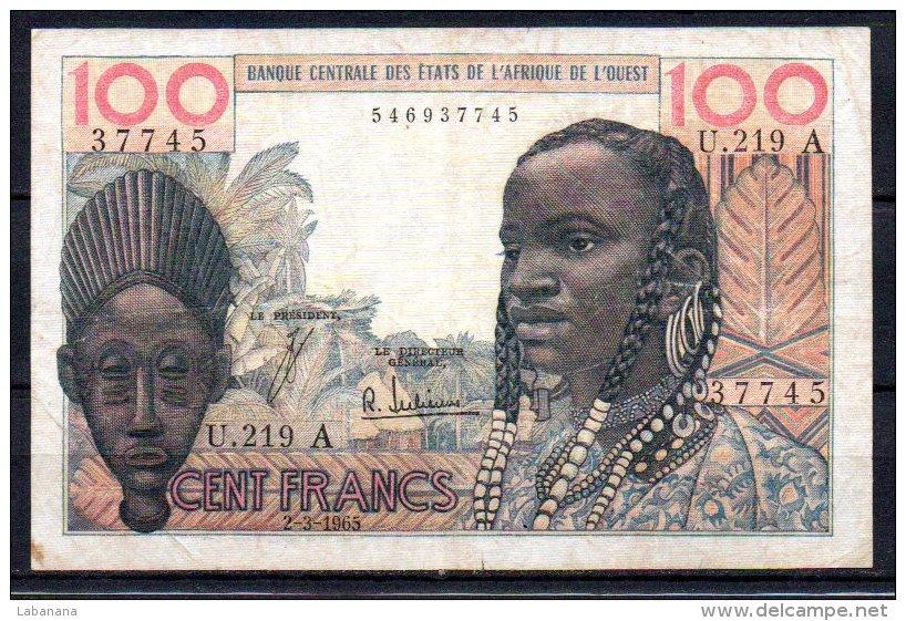 583-Côte D'Ivoire Billet De 100 Francs 1965 U219A - Côte D'Ivoire