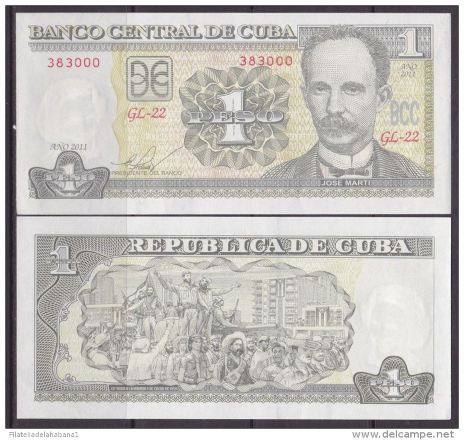 2011-BK-5 CUBA 2011 1$ JOSE MARTI UNC. - Cuba