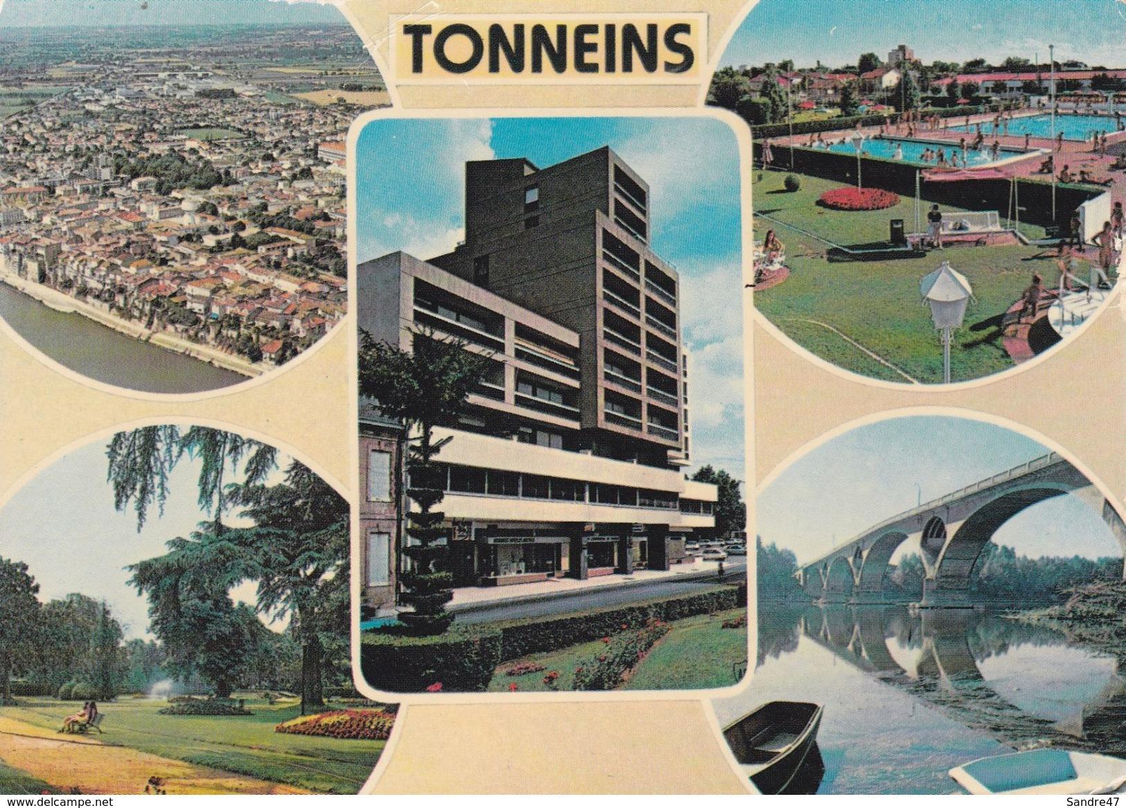 CPSM/gf  (47)  TONNEINS.  Multivues. ..G617 - Tonneins