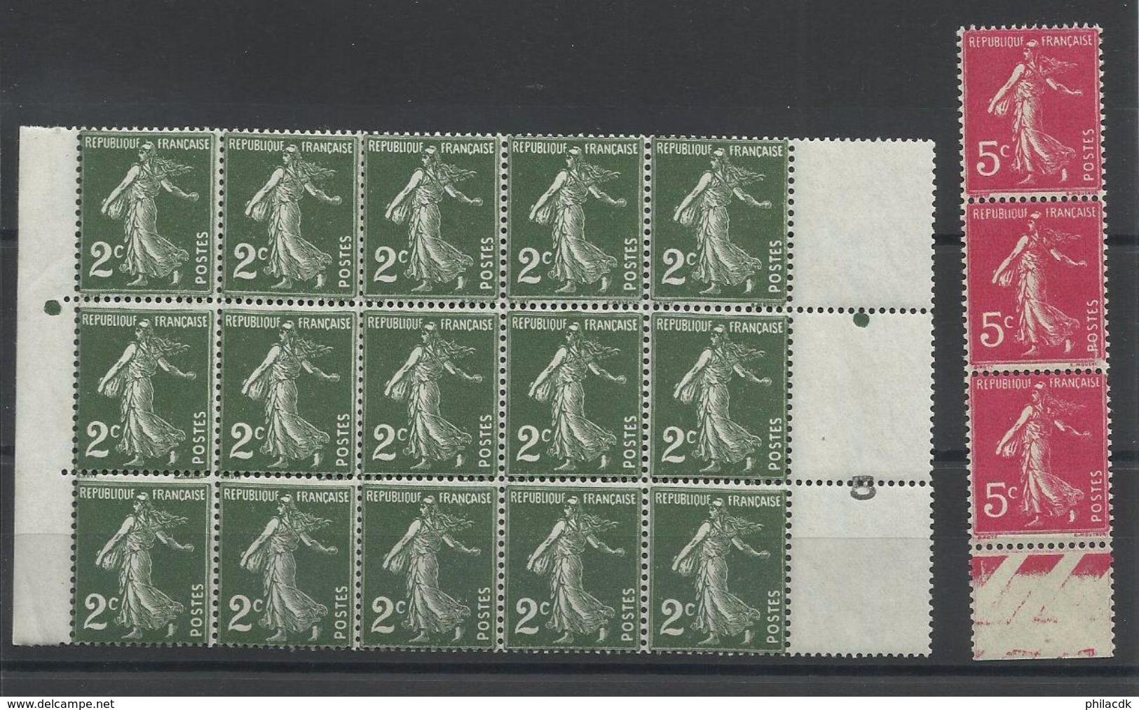 FRANCE - 44 SCANNS -LOT DE 382 SEMEUSE CAMEE NEUFS** SANS CHARNIERE/ NEUFS* AVEC CHARNIERE/NEUFS (*) SANS GOMME - 1906-38 Sower - Cameo