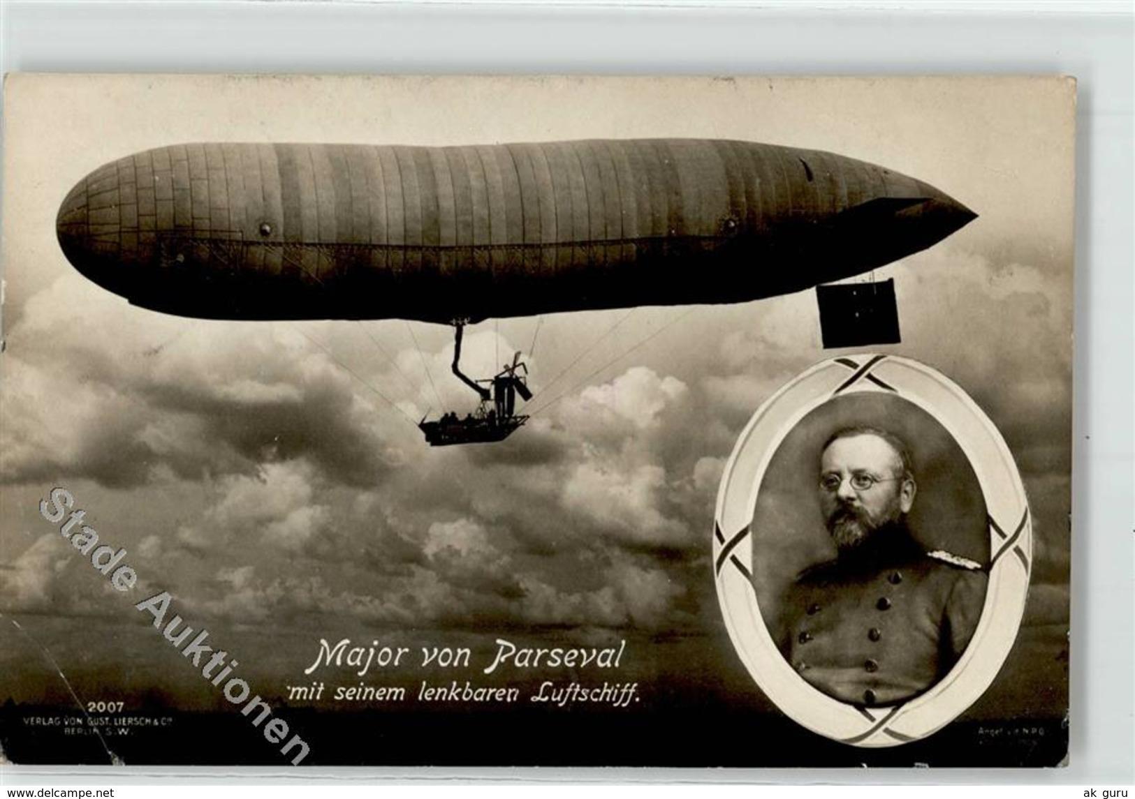 52534269 - Major Von Parseval Mit Seinem Lenkbaren Luftschiff - Gust. Liersch - Arts