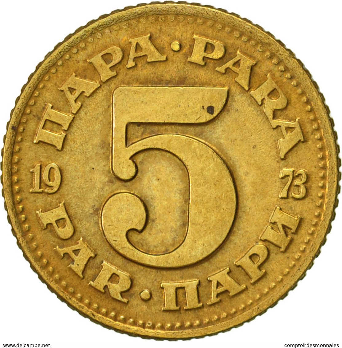 Yougoslavie, 5 Para, 1973, TTB+, Laiton, KM:43 - Yugoslavia