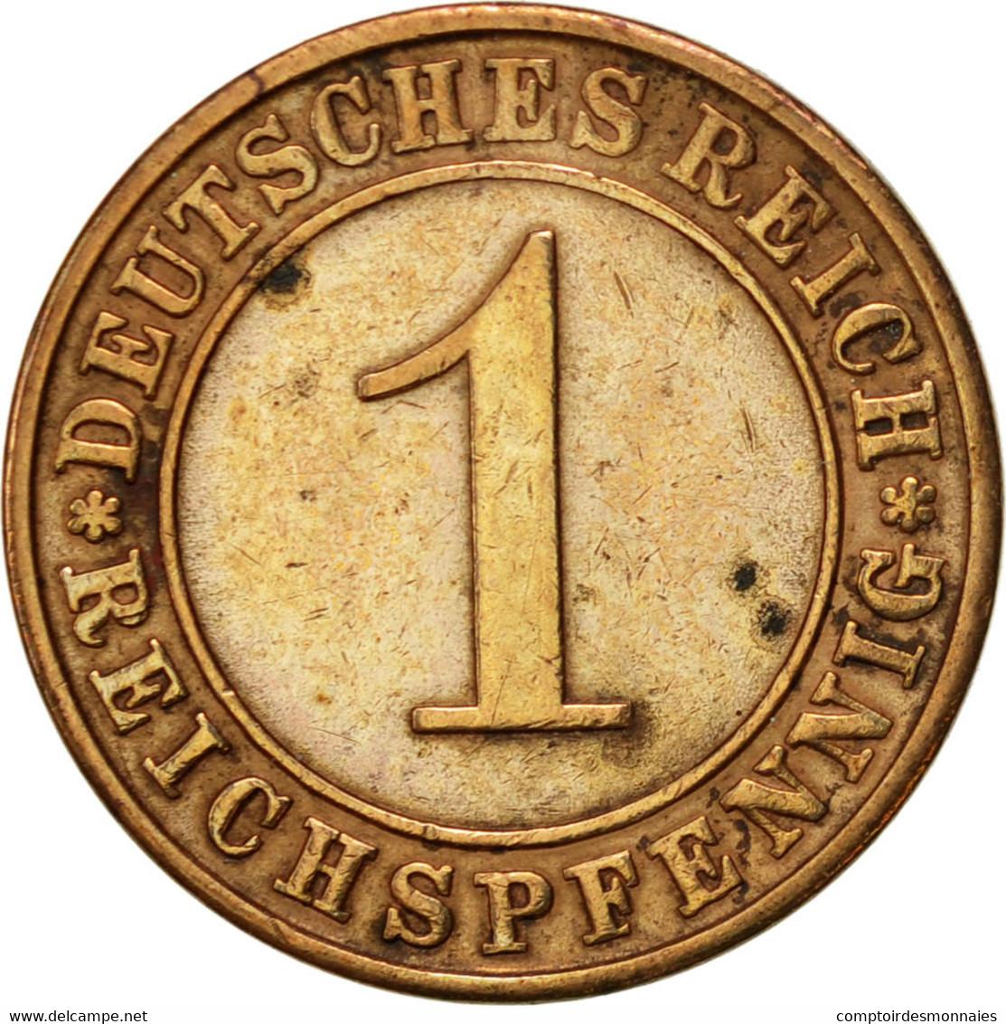 Allemagne, République De Weimar, Reichspfennig, 1931, Berlin, TTB, Bronze - 1 Rentenpfennig & 1 Reichspfennig