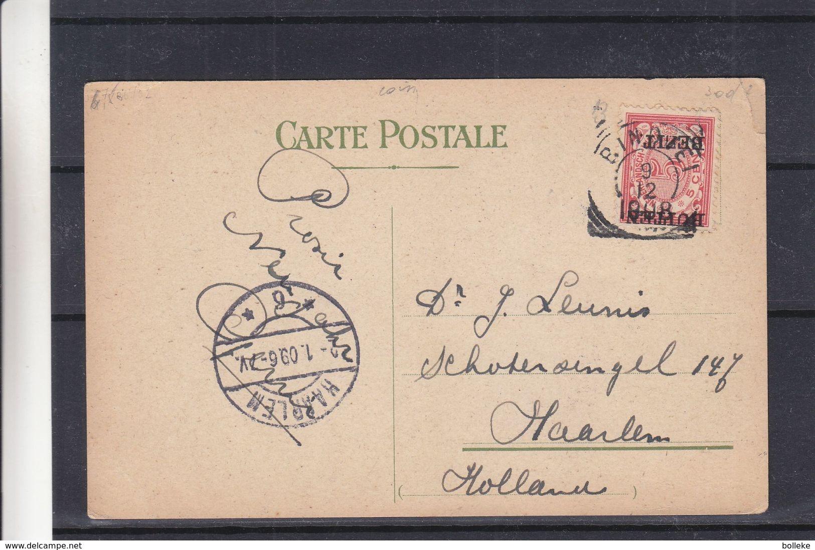 Indes Néerlandaises - Carte Postale De 1908 - Oblit Bindjei  ? - Exp Vers Haarlem Au Pays Bas - Nederlands-Indië