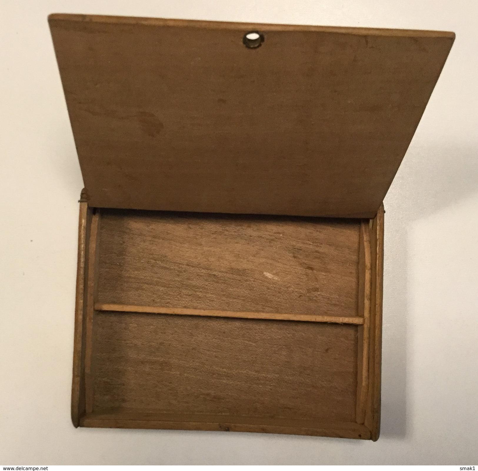 EMPTY CIGARE  BOX    MADE OF  WOOD   PERLA DE KUBA     DRZAVNI MONOPOL   YUGOSLAVIA - Cigar Cases