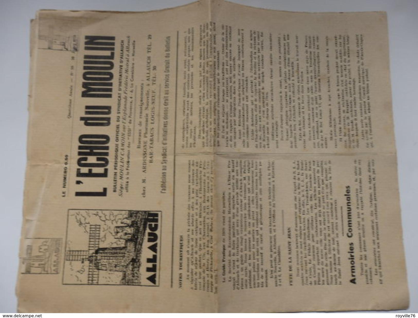 Journal De L'écho Du Moulin D'Allauch (13). - Giornali