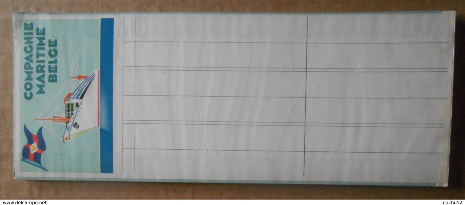 Carnet De Commande De La Compagnie Maritime Belge - Vieux Papiers