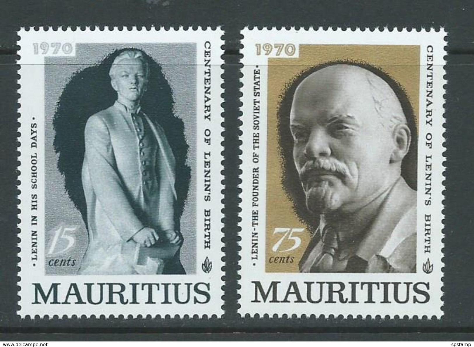 Mauritius 1970 Lenin Anniversary Set Of 2 MNH - Mauritius (1968-...)