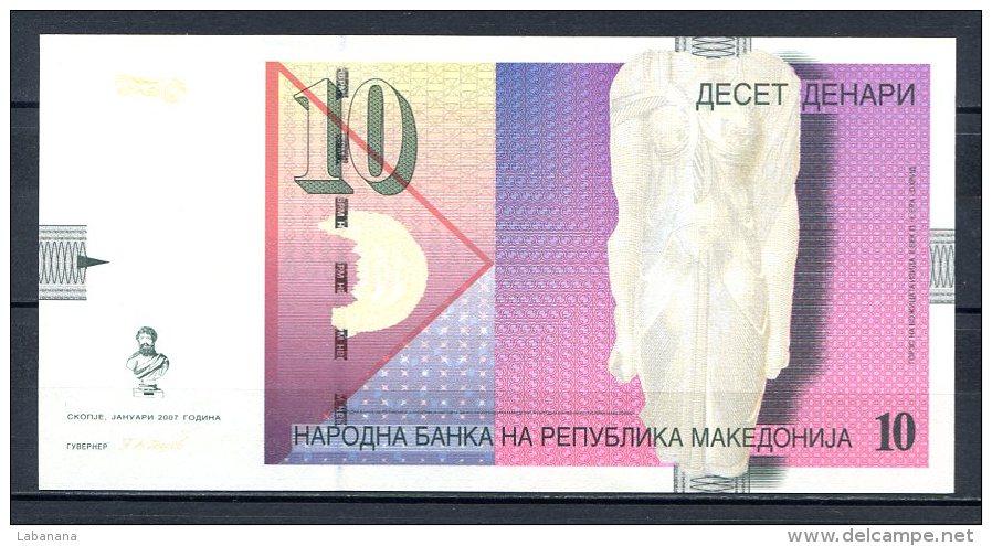 460-Macédoine Billet De 10 Denari 2007 RR137 Neuf - Macédoine