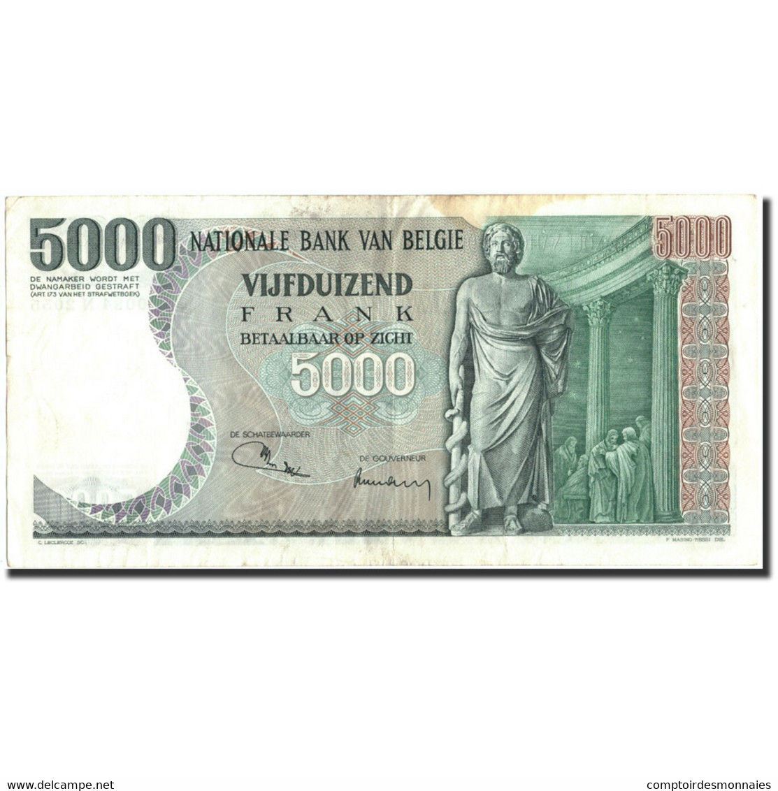 Belgique, 5000 Francs, 1973, KM:137, 1973-01-19, TB - [ 2] 1831-... : Royaume De Belgique