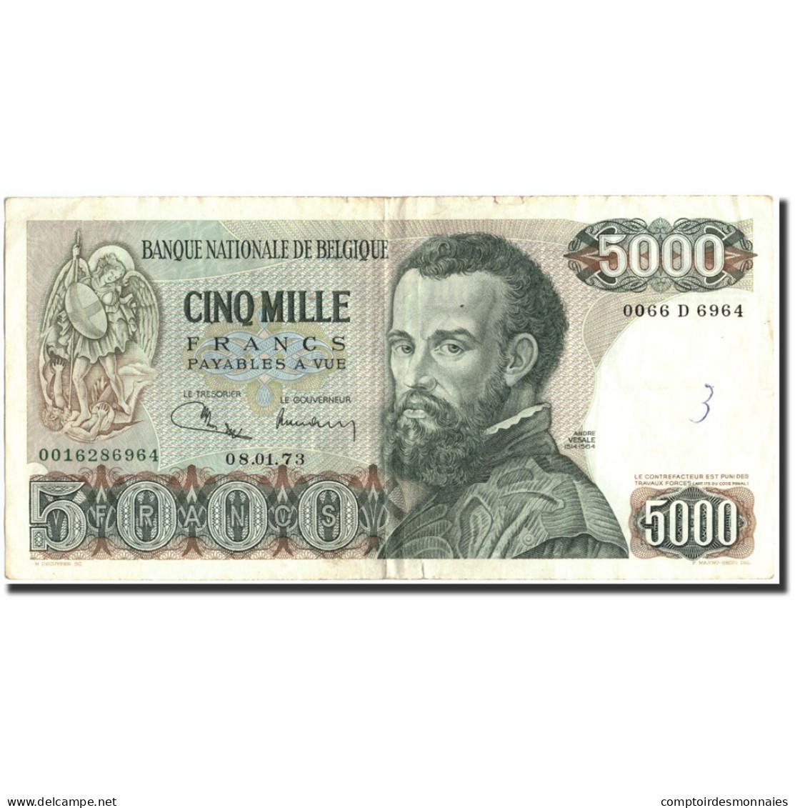 Belgique, 5000 Francs, 1973, KM:137, 1973-01-08, TB+ - [ 2] 1831-... : Royaume De Belgique